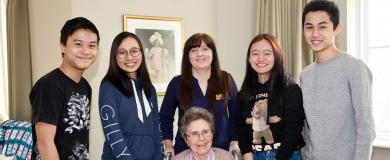 Students learn from engaging with nursing home residents