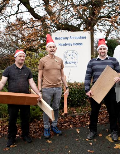 Gifts of wood help people make headway
