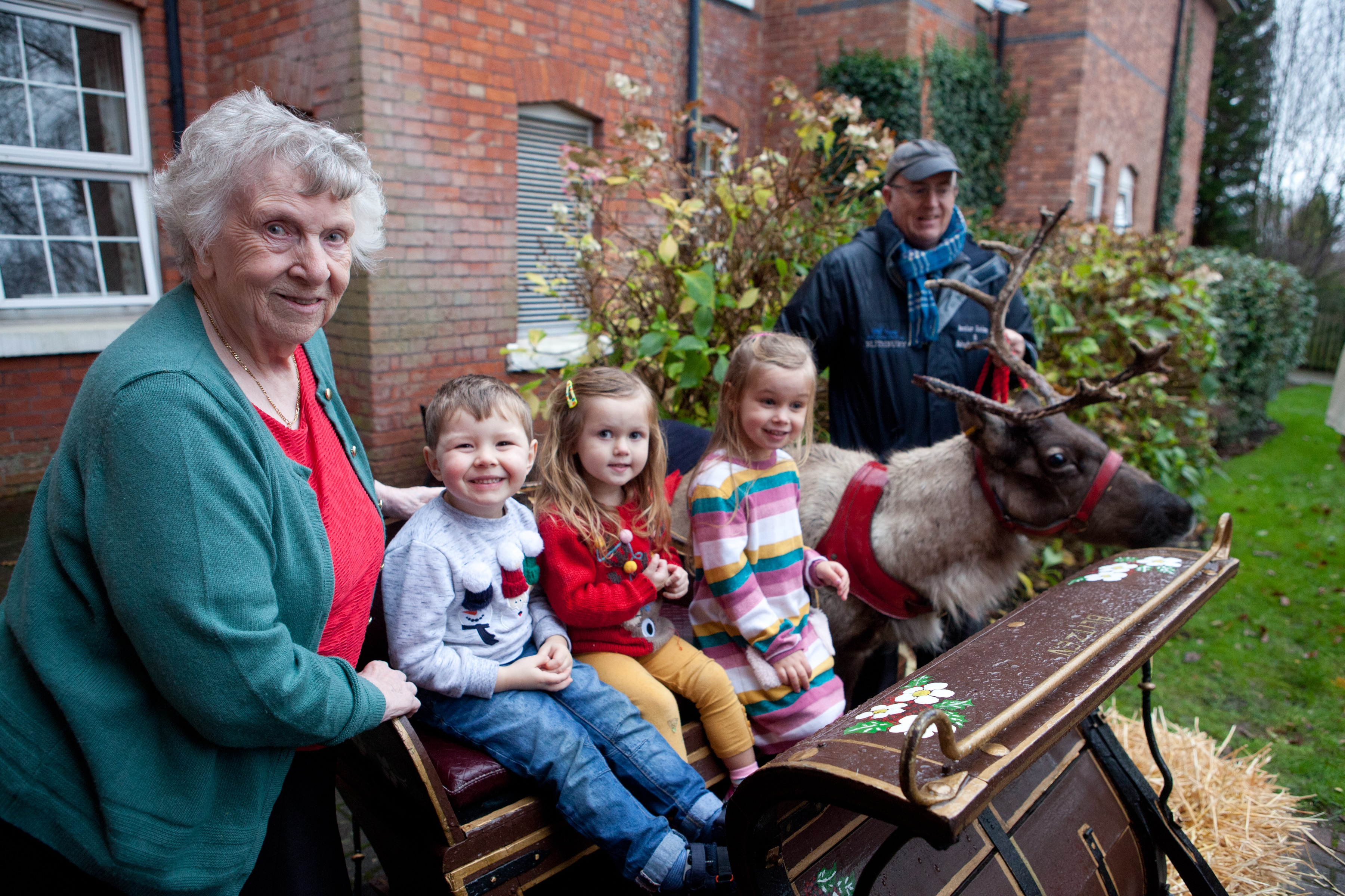 Reindeer visit and youngsters create Christmas magic at Nursing Home