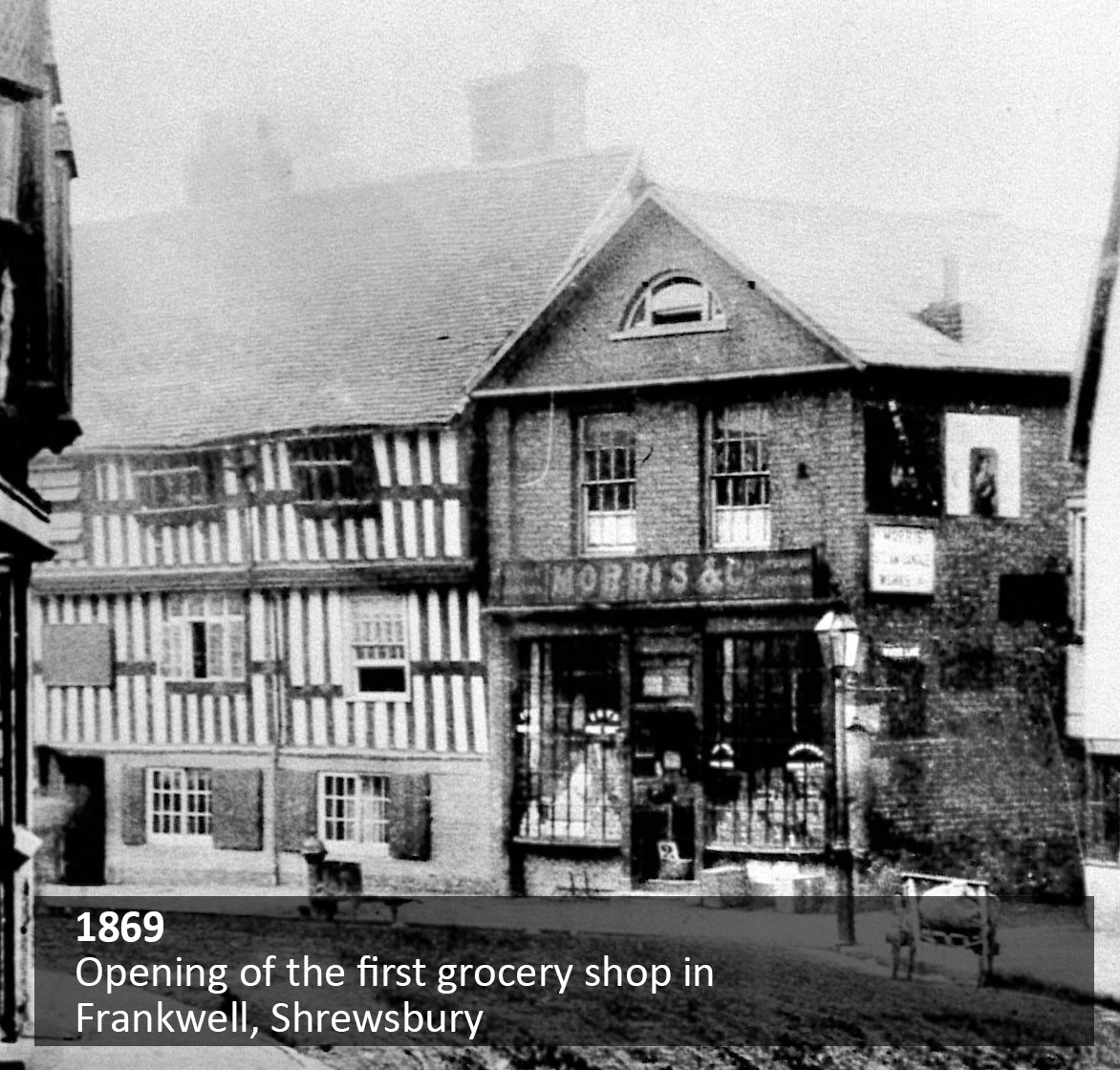 Opening of the first grocery shop in Frankwell, Shrewsbury