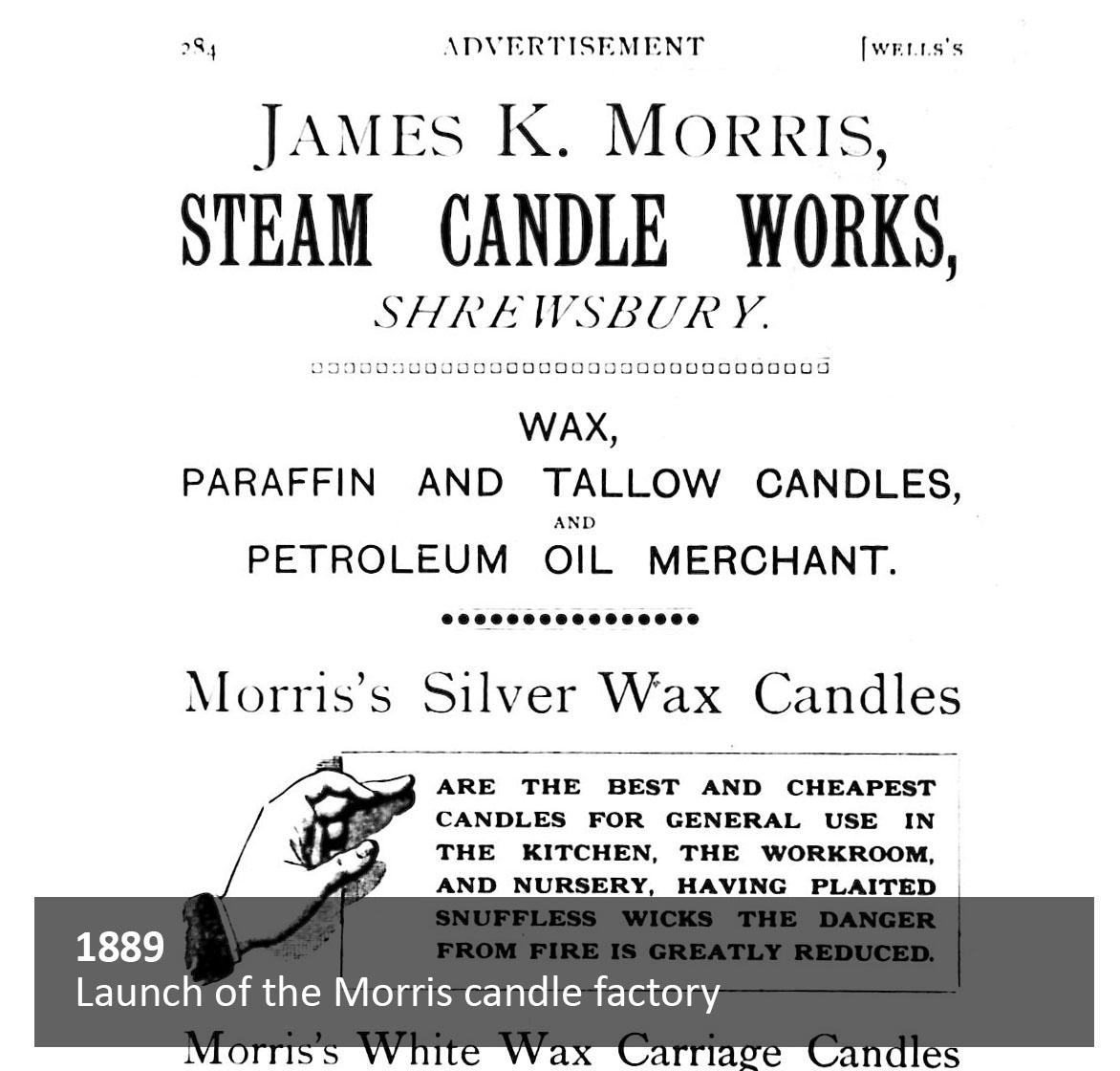 Launch of the Morris candle factory