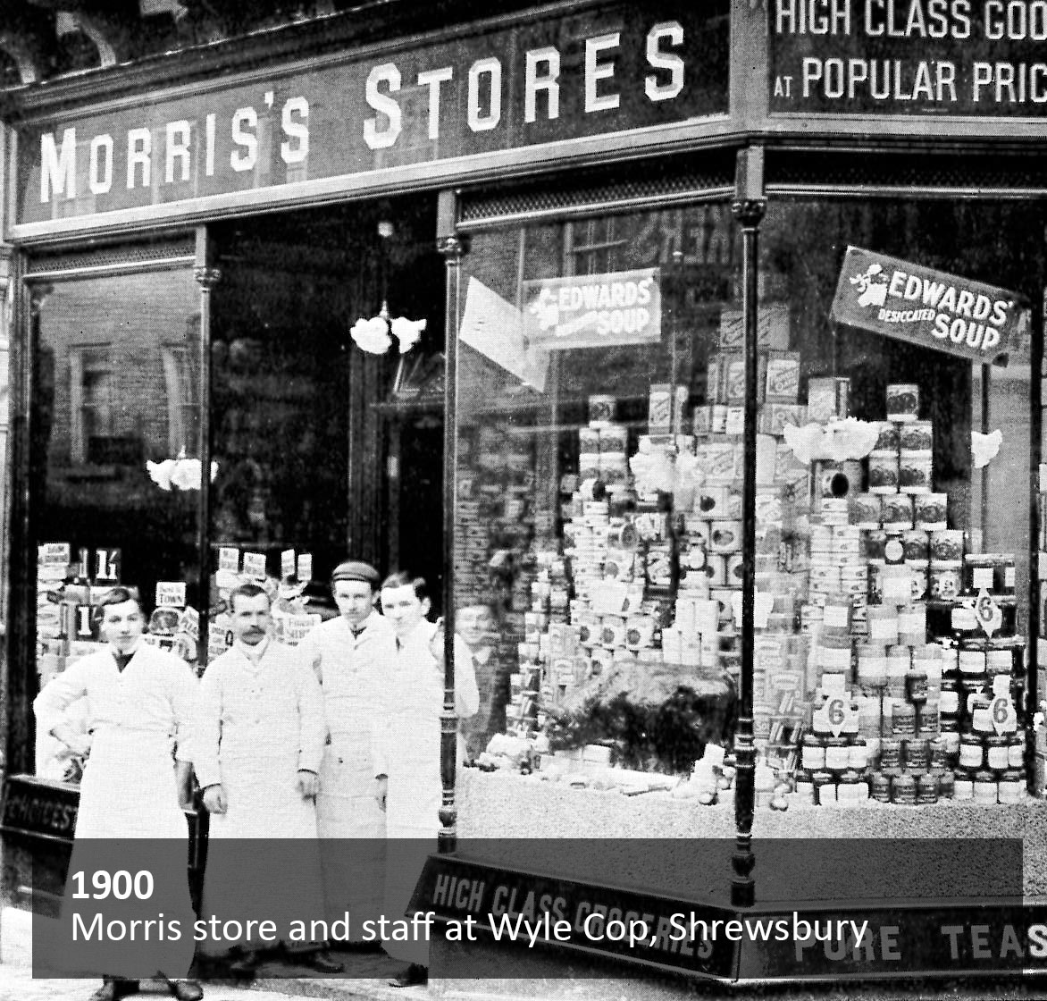 Morris store and staff at Wyle Cop, Shrewsbury
