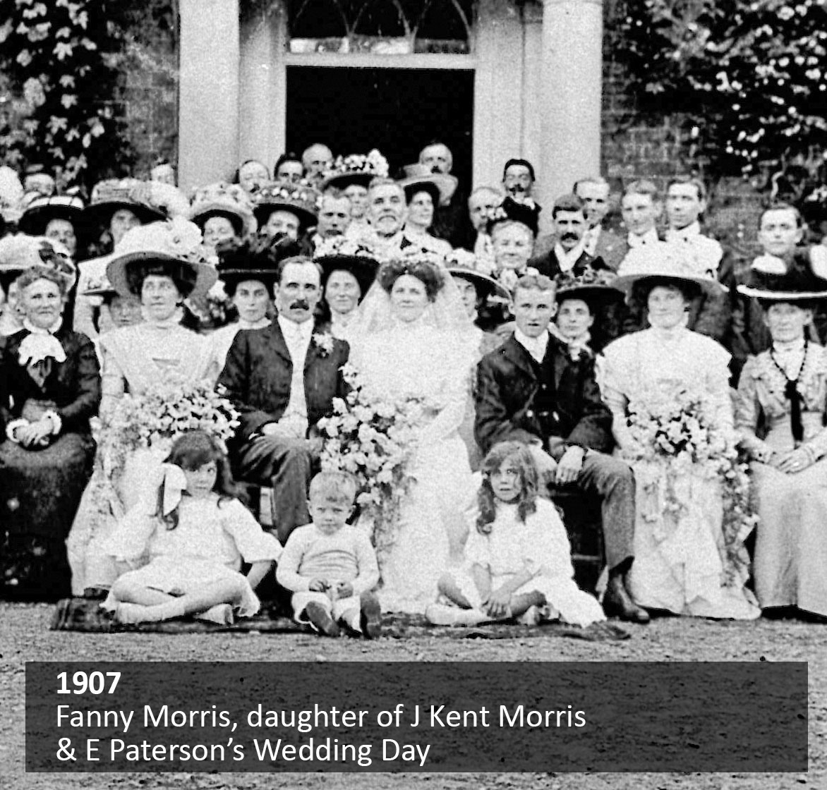Fanny Morris, daughter of J Kent Morris & E Paterson's Wedding Day