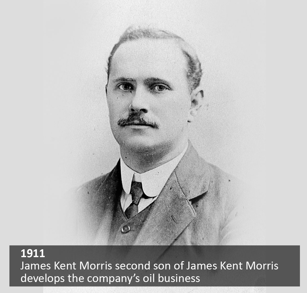 James Kent Morris, second son of James Kent Morris develops the company's oil business