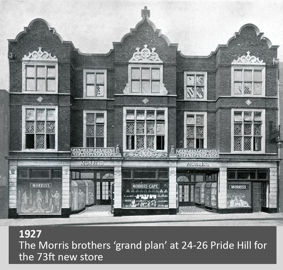 The Morris brothers 'grand plan' at 24 - 26 Pride Hill for the 73ft new store