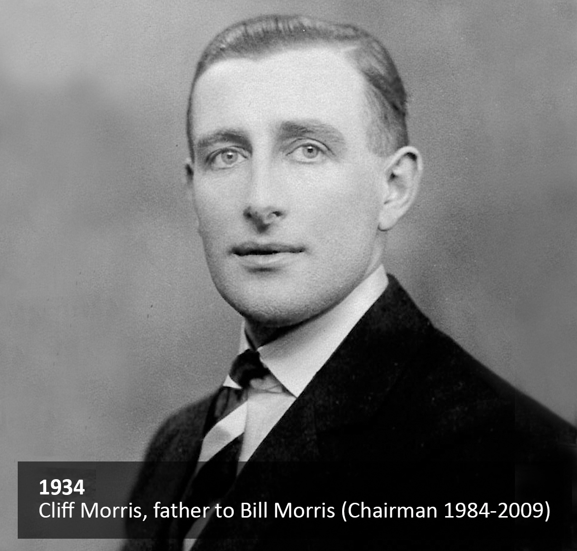 Cliff Morris, father to Bill Morris (Chairman 1984-2009)