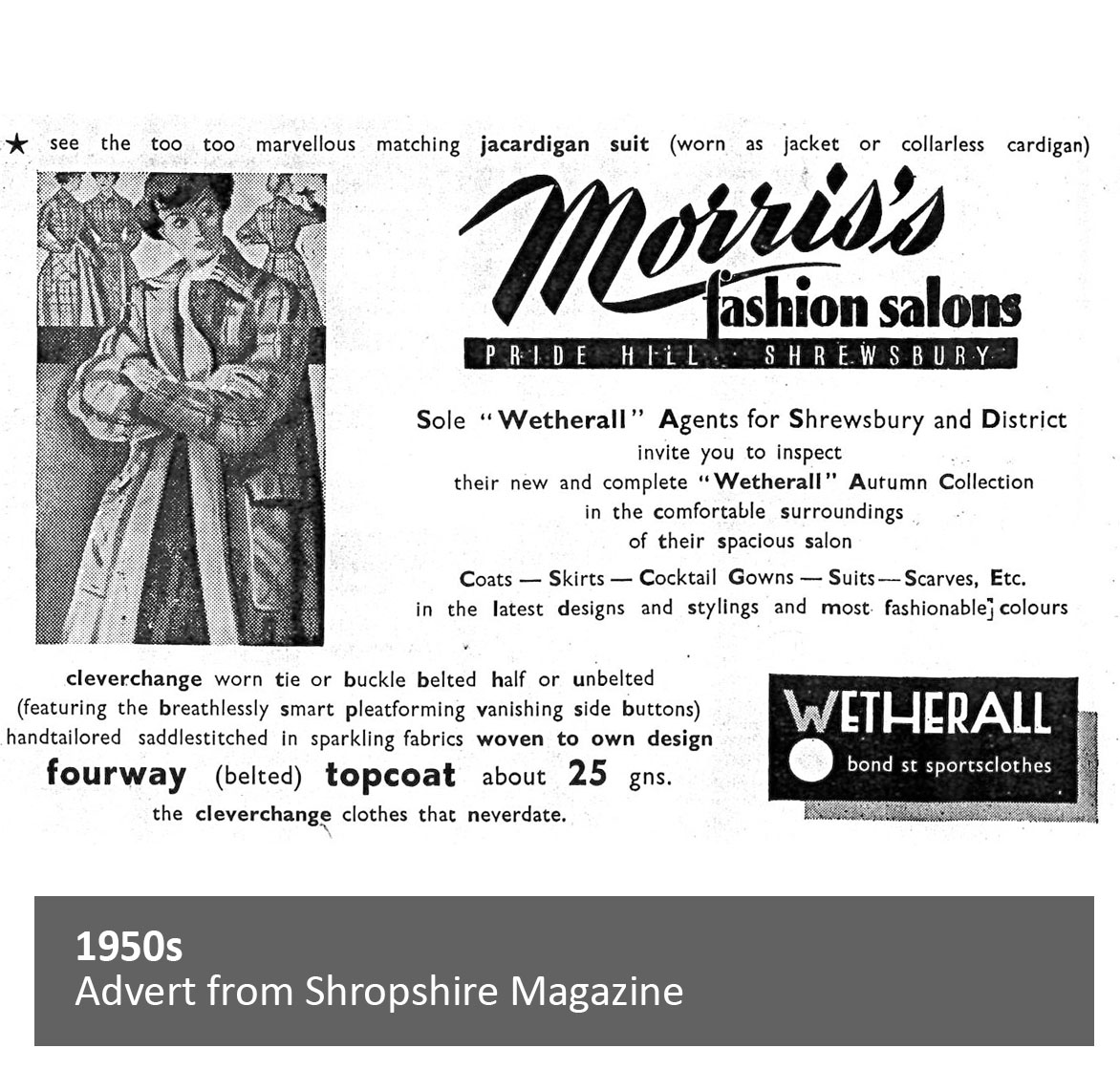 Advert from Shropshire Magazine