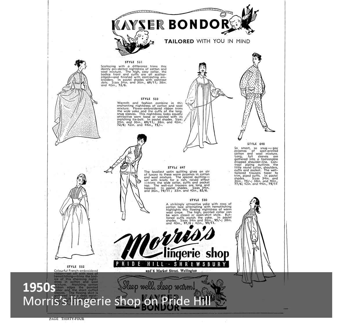 Morris's lingerie shop on Pride Hill