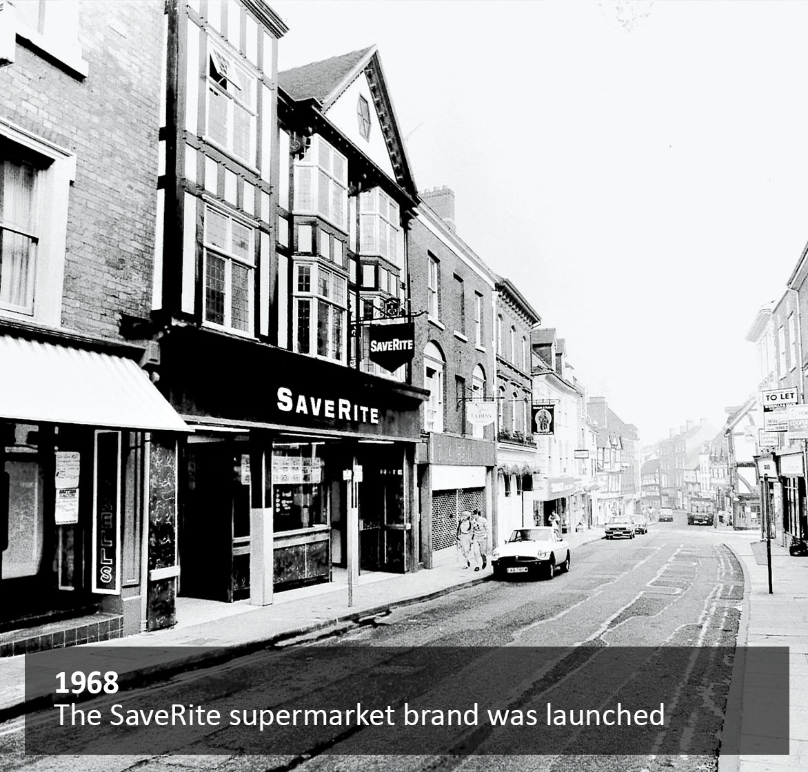 The SaveRite supermarket brand was launched in 1968
