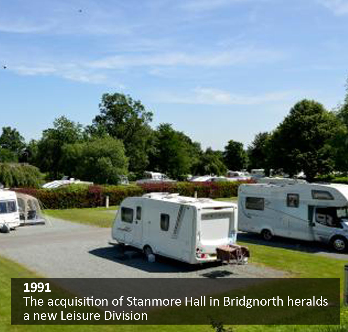 The acquisition of Stanmore Hall in Bridgenorth heralds a new Leisure Division