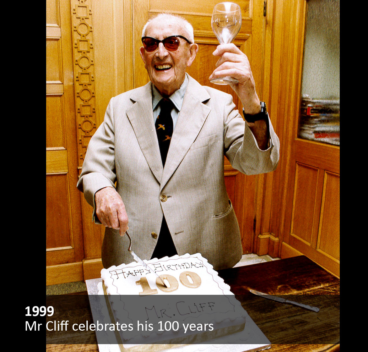 Mr Cliff celebrates his 100 years