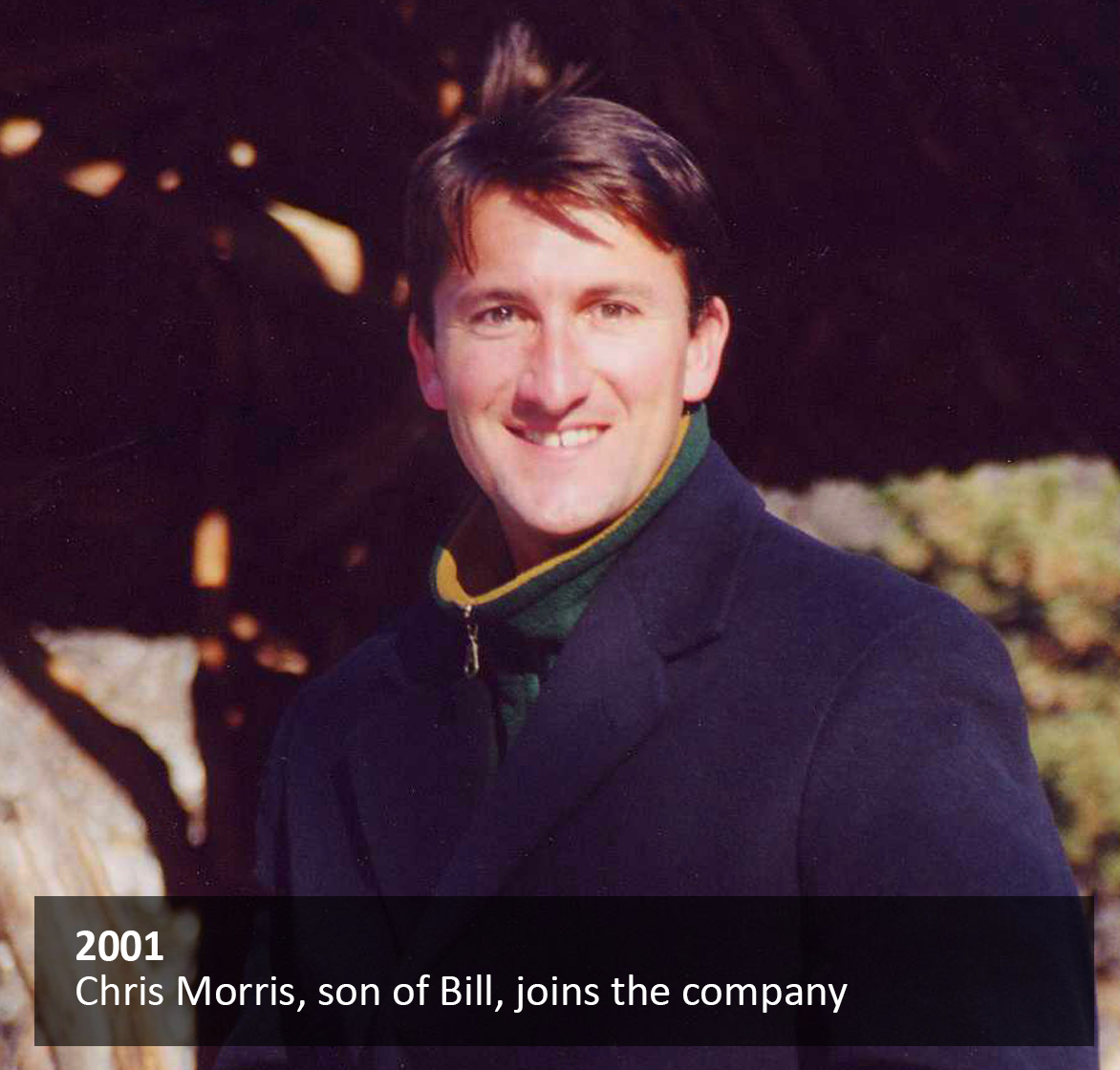 Chris Morris, son of Bill, joins the company