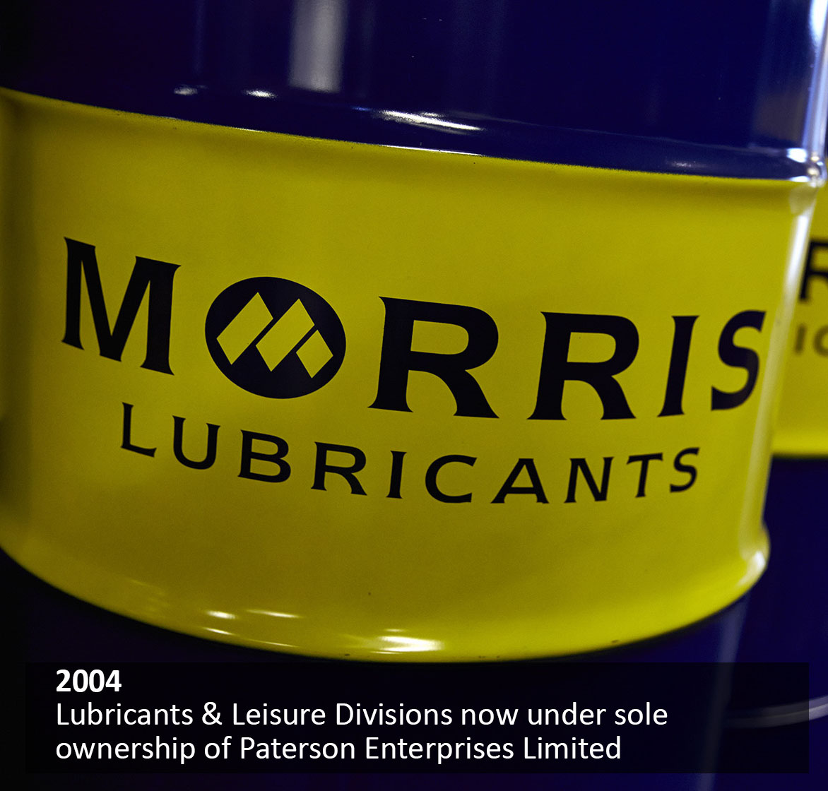Lubricants & Leisure Divisions now under sole ownership of Paterson Enterprises Limited