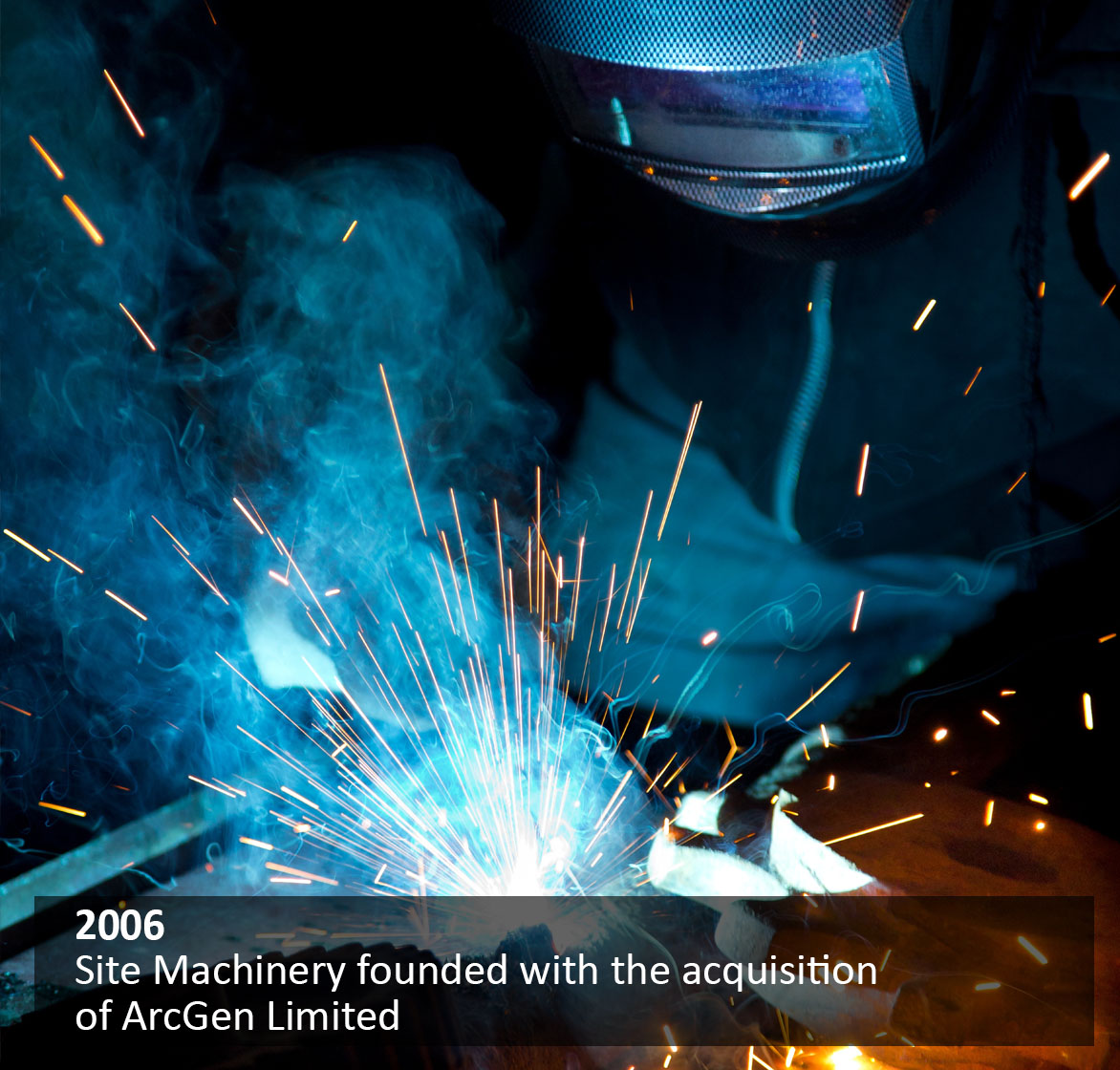 Site Machinery founded with the acquisition of ArcGen Limited