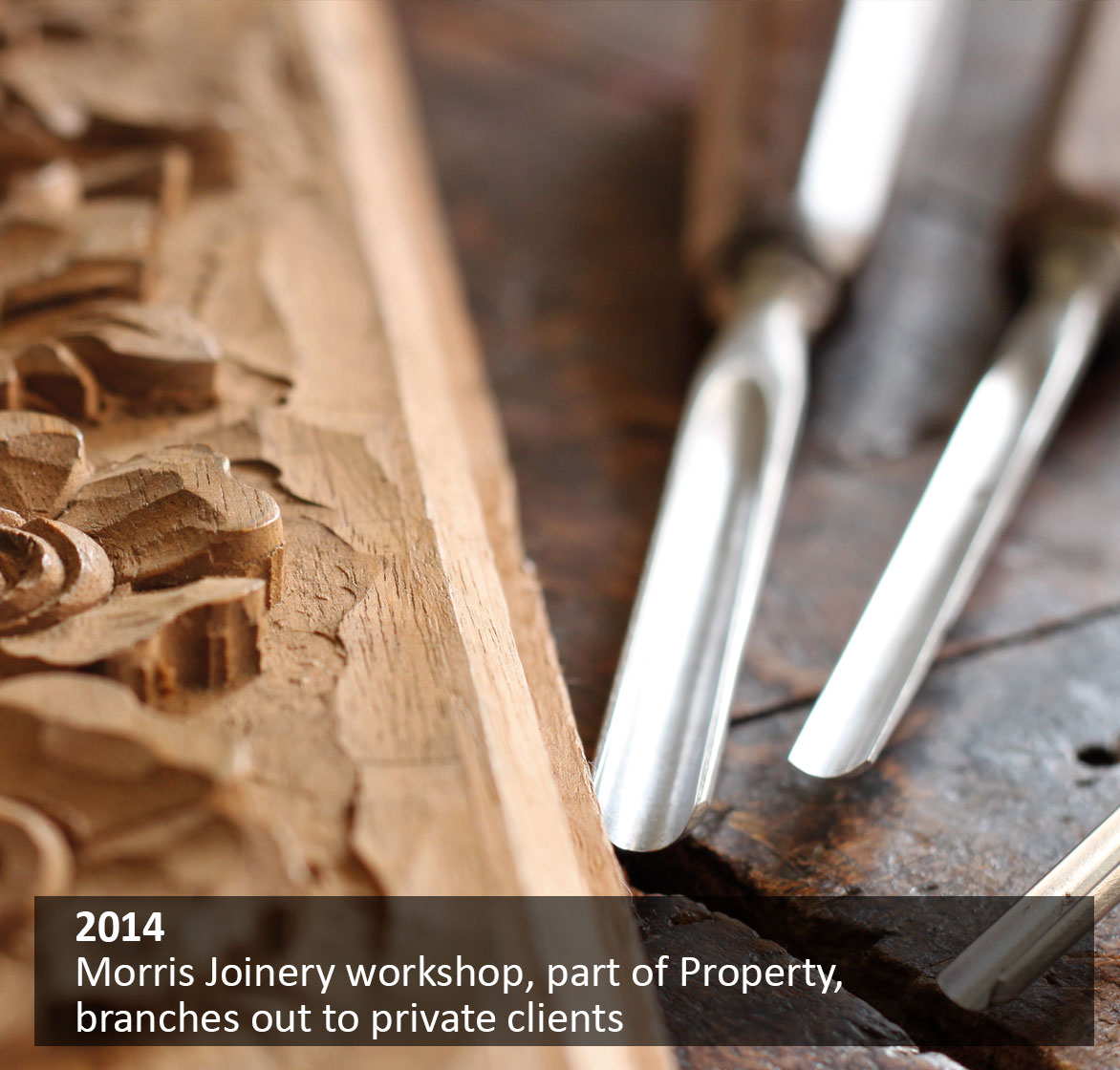 Morris Joinery workshop, part of Property, branches out to private clients