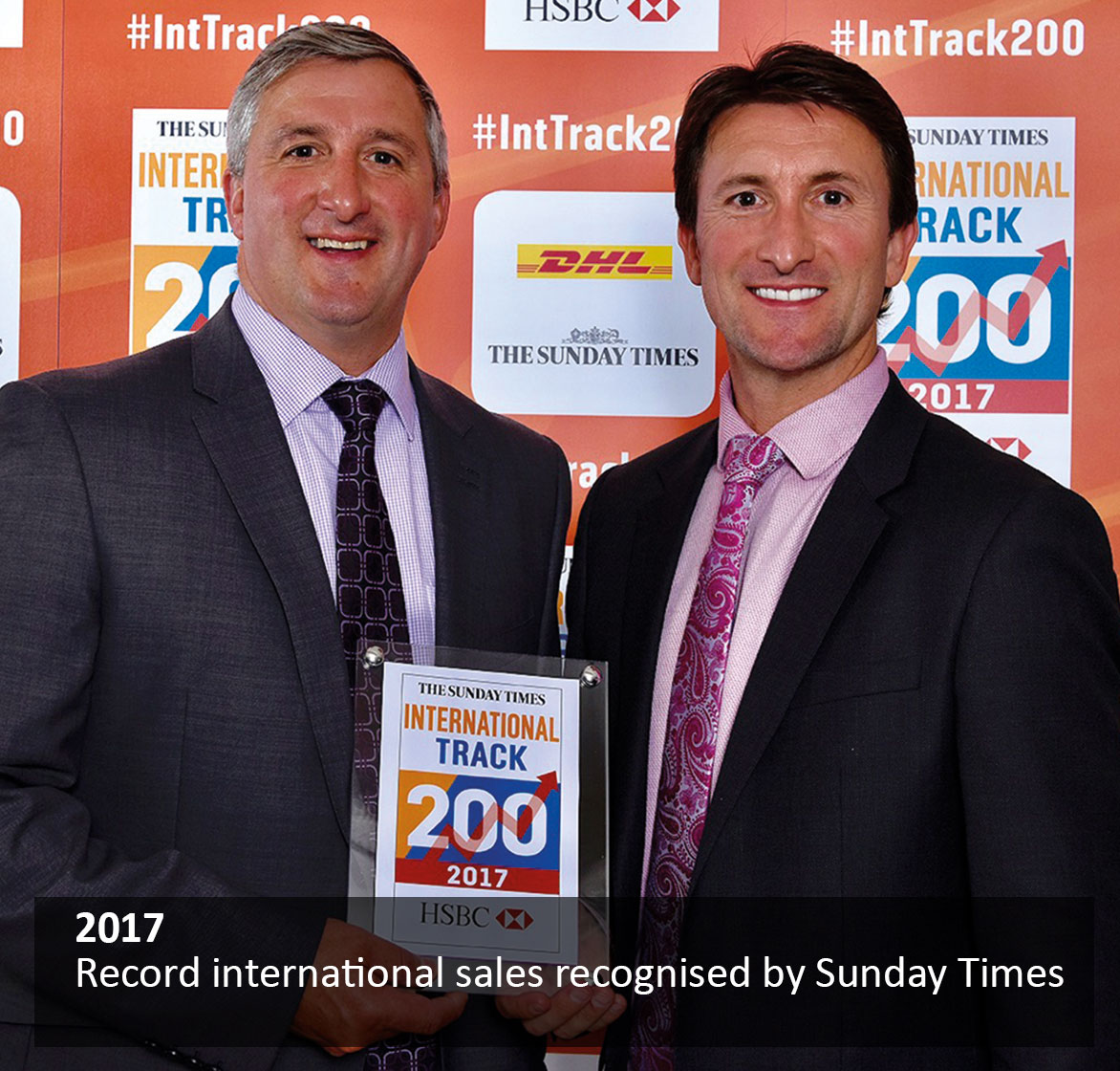 Record international sales recognised by Sunday Times