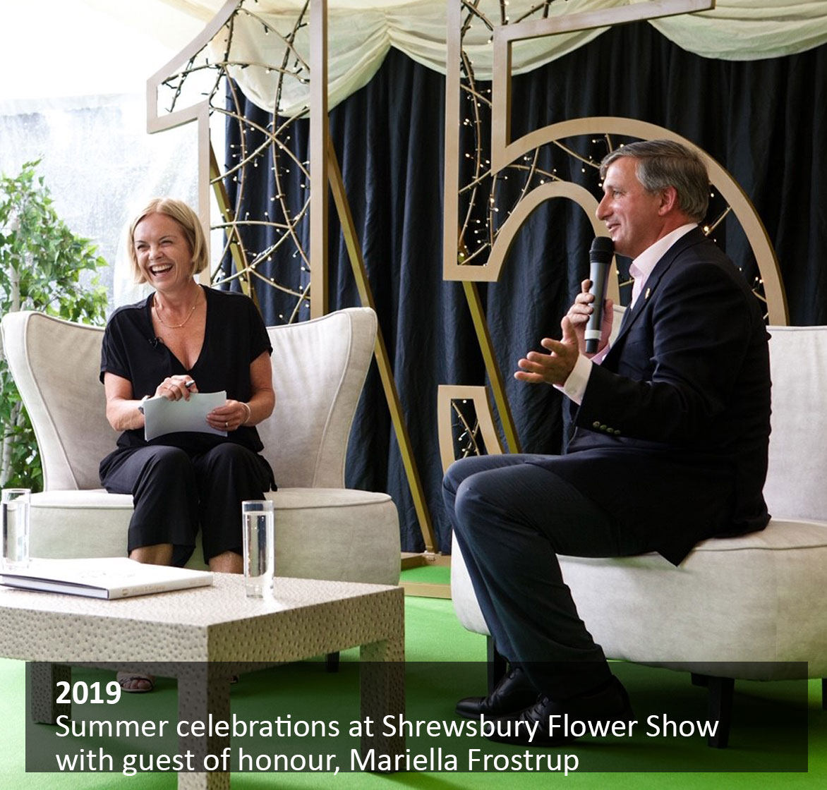 Summer celebrations at Shrewsbury Flower Show with guest of honour, Mariella Frostrup