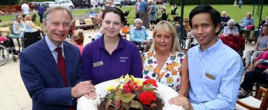 Summer BBQ proves hit with residents and their families