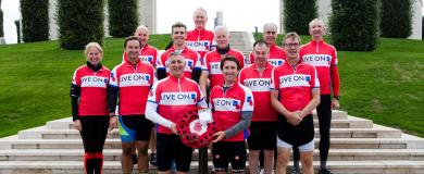 100 Mile Celebrations for intrepid Charity Cyclists