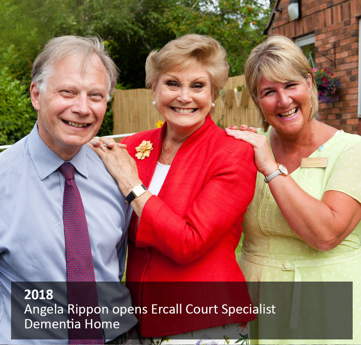 Angela Rippon opens Ercall Court Specialist Dementia Home