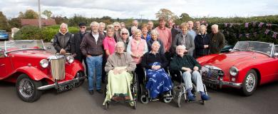Cherished cavalcade is a motoring treat at nursing home