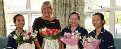 Beautiful bouquets for Morris Care Nurses on International Day